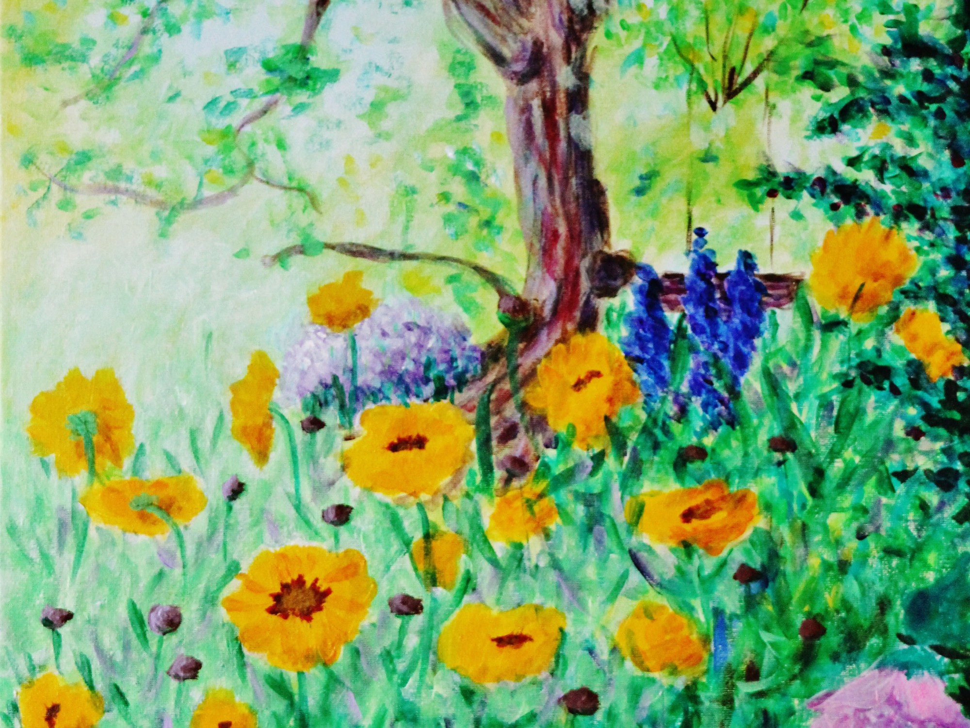 My Garden (coreopsis sunfire and other flowers), ArtHenning