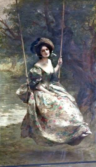 Fisher, Samuel Melton, 1859-1939; The Swing