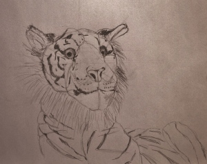 toy tiger, pencil drawing, drawing instructions, constructions lines, ArtHenning