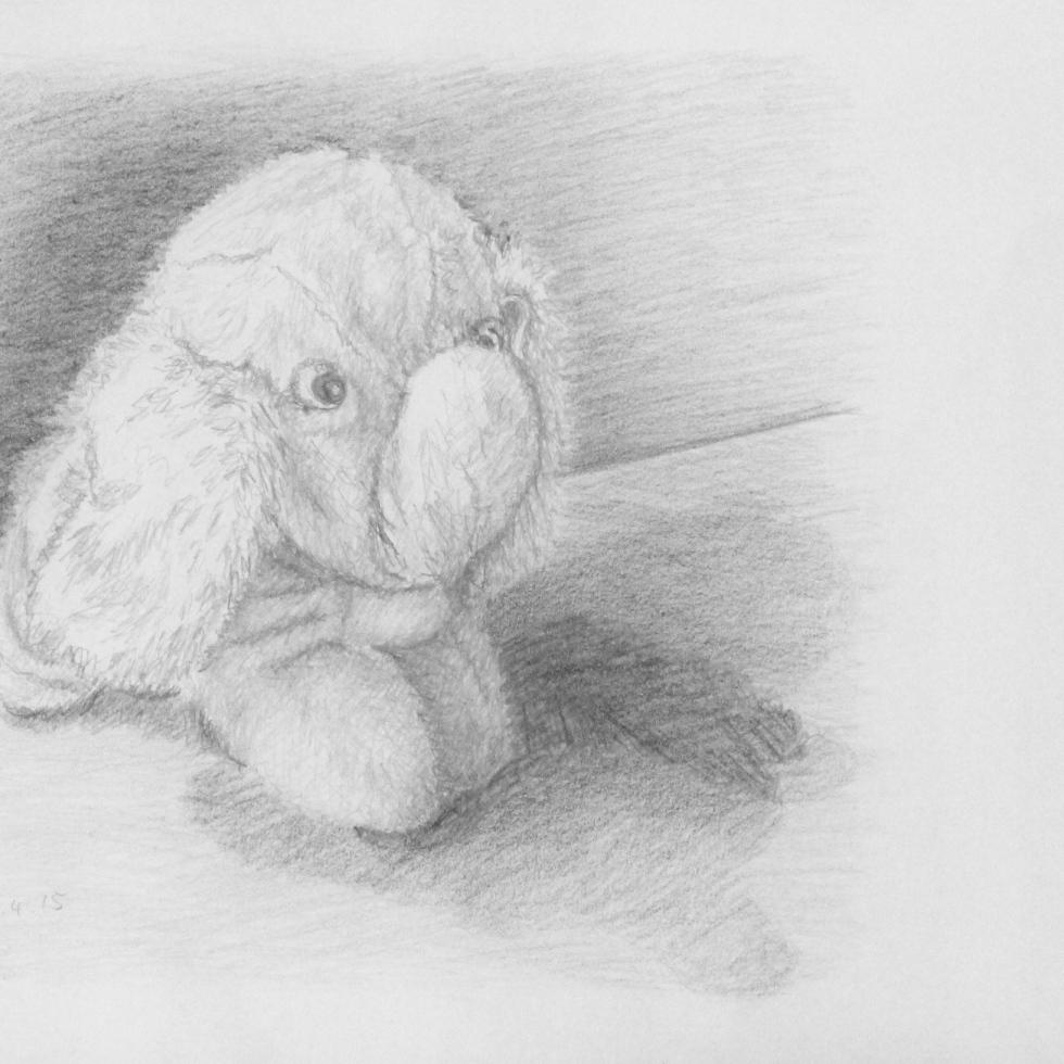 Pencil Portrait of an Elephant, ArtHenning