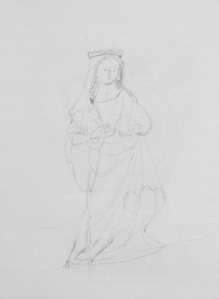 Statue, pencil drawing, ArtHenning