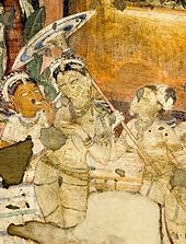 Parasol Painting: Gupta Empire, India, ca. 320 AD