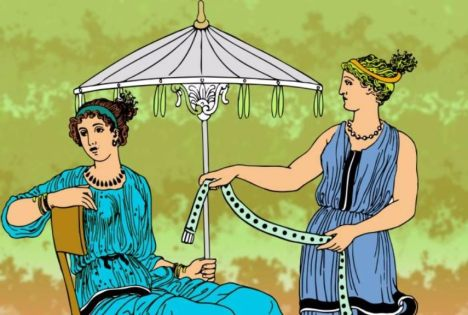 Ancient Greece Parasol illustration, detail via world4eu[1]