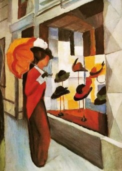 August Macke (1887-1914), Hutladen (Hat Shop), 1914