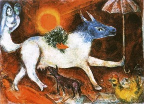 Marc Chagall (1887-1985), Cow with Parasol, 1944