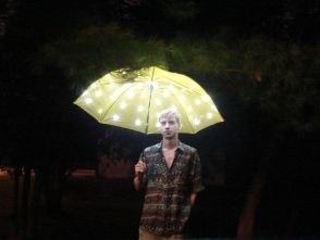 Umbrella with Electric Lights