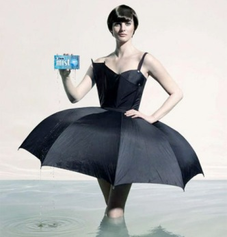 Umbrella-Dress, black