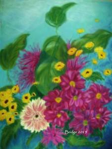 Chrysanthemums and Gerbera, ArtHenning