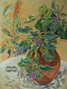 Wild Ivy in Brown Jug, ArtHenning
