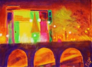 City Lights over Sarsfield Bridge, ArtHenning lr